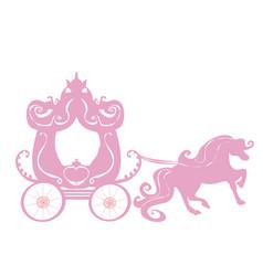 Vintage carriage icon vector