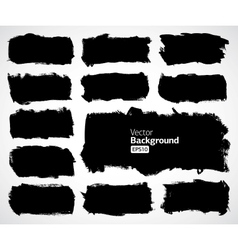 black banners set vector image vector image