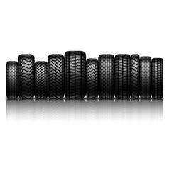 car tires vector image vector image