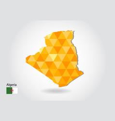geometric polygonal style map of algeria low vector image