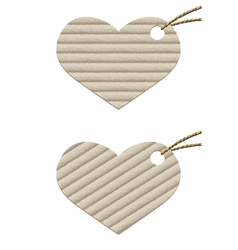 Heart Cardboard tag with rope vector image vector image