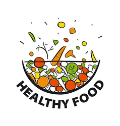 logo fresh vegetables for a healthy diet vector image