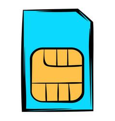 sim card icon icon cartoon vector image vector image
