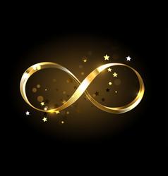 Golden infinity symbol vector