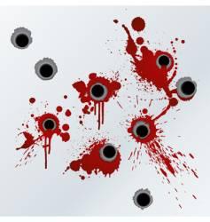 gunshot blood background vector image vector image