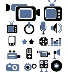 media signs vector image