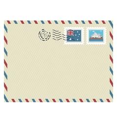 australia airmail vector image vector image