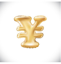 Balloon symbol of yen or yuan realistic 3d vector