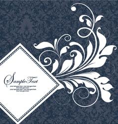 damask wedding card vector image vector image