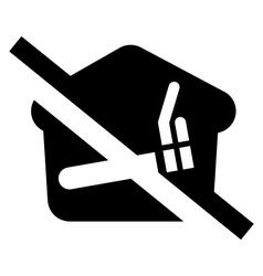 No smoking at home sign vector image vector image