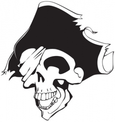 pirate skull vector image