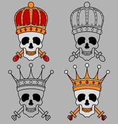 Skull Mascot King Crown vector image