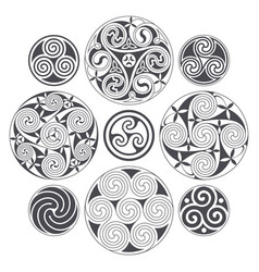 celtic spiral design for prints tattoo and vector image