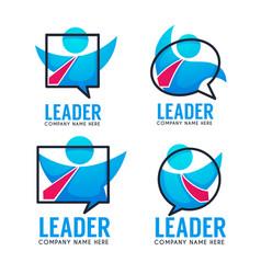 leader of your business team logo emblems vector image