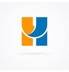 Letter H logo for design template elements vector image