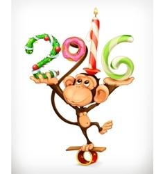 New Year monkey vector image vector image