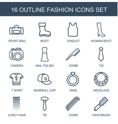 16 fashion icons vector