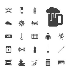 22 long icons vector