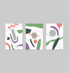 a set posters composition with abstract vector image