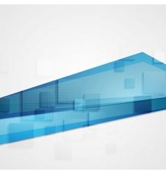 Abstract blue concept tech background vector
