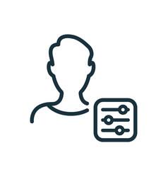 Account settings line icon profile user settings vector