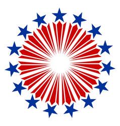 american flag symbols emblem logo vector image