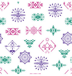 aztec style ornament seamless pattern background vector image