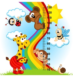 Baby height measure 1 to 4 vector