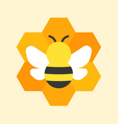 bee and honeycomb icon vector image