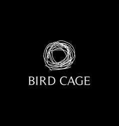 Bird cage abstract logo design vector