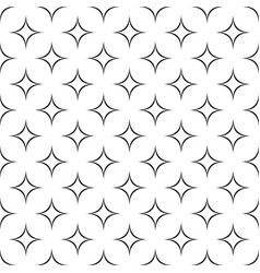 Black and white seamless abstract star pattern - vector