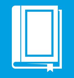 Book icon white vector