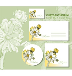 business card envelopes vector image