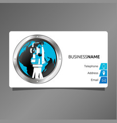 business card for surveyor and cartography vector image