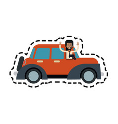 Car sideview icon image vector