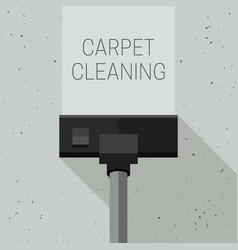 Carpet cleaning with vacuum cleaner vector