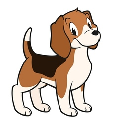 Cartoon Beagle vector image