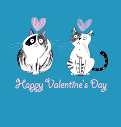 cats love graphic vector image