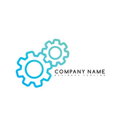 cog setting brand template logo logotype theme art vector image