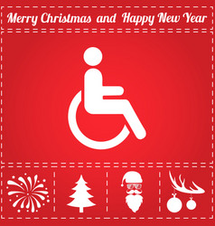 cripple icon vector image
