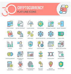 cryptocurrency icon vector image