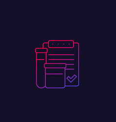 doping control linear icon vector image