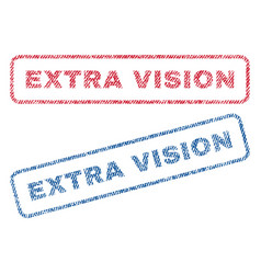 Extra vision textile stamps vector