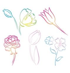 Flower art line vector