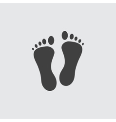 Foot icon vector image