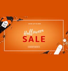 halloween sale web banner vector image
