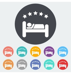 Hotel single flat icon vector