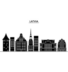 latvia architecture city skyline travel vector image