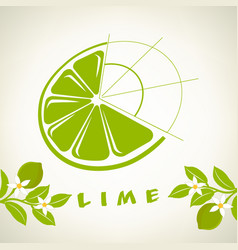 Lime on a branch logo vector