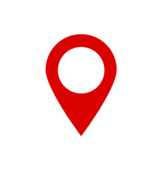 location icon for map pointer on isolated vector image